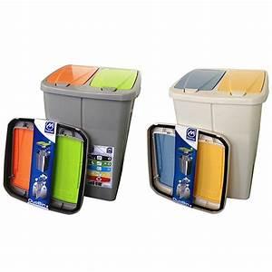 Poubelle De Tri Selectif : poubelle de tri s lectif cuisine 2 compartiments 2 x 22 5 ~ Farleysfitness.com Idées de Décoration