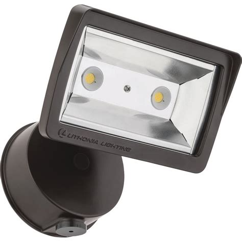 dusk to dawn led flood light lithonia lighting bronze outdoor integrated led wall mount