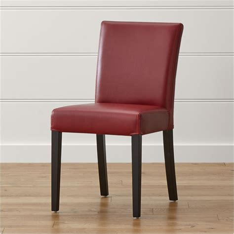 lowe red leather dining chair reviews crate  barrel