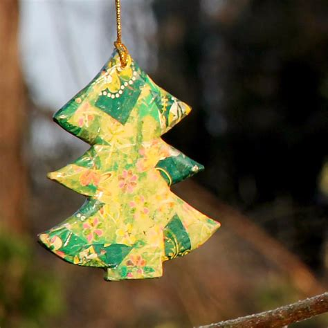 hanging christmas tree collage green cm