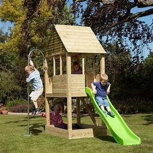 Jeux Exterieur Bois Enfant : la maisonnette en bois qui aide vos enfants jouer plus ~ Premium-room.com Idées de Décoration