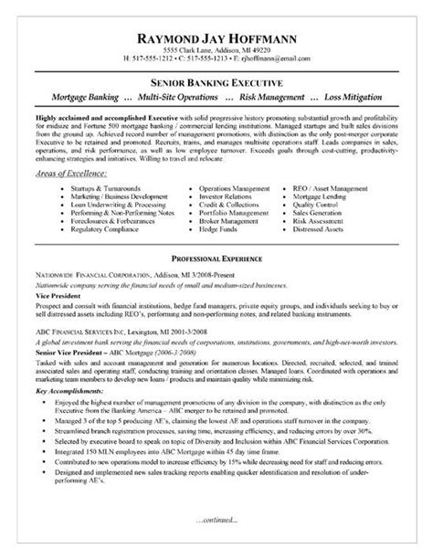 mortgage banker resume examples executive resume