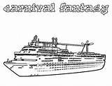 Cruise Coloring Ship Carnival Fantasy Netart Printable Colouring sketch template