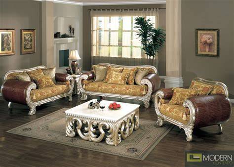 quality high end luxurious formal living room furniture set