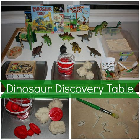 preschool dinosaur activities sensory play ideas 806 | dinosaur discovery table
