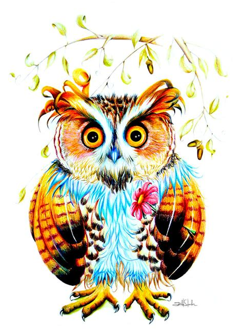 the most beautiful owl painting by salvador