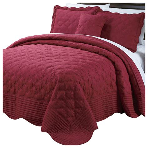 bnf home quilted cotton  piece bedspread set quilts