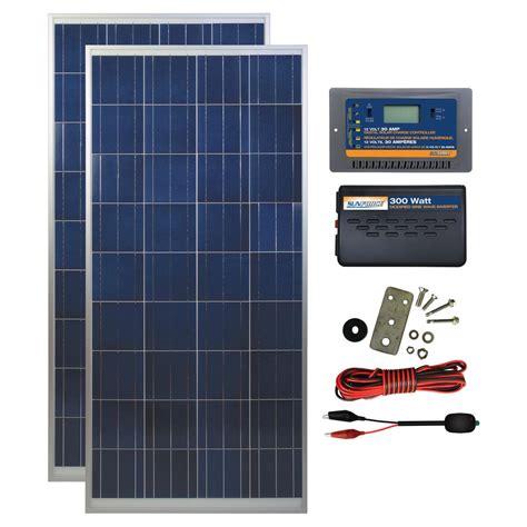 sunforce  watt polycrystalline solar panel kit