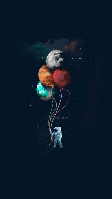 See more ideas about space phone wallpaper, phone wallpaper, galaxy outfit. 1080x1920 Astronaut, space, minimal, balloons, art wallpaper | Desenho de astronauta, Ilustração ...