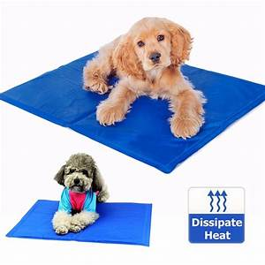 65cm x 50cm dog cat pet cooling mat heat hot weather gel With best dog bed for hot weather