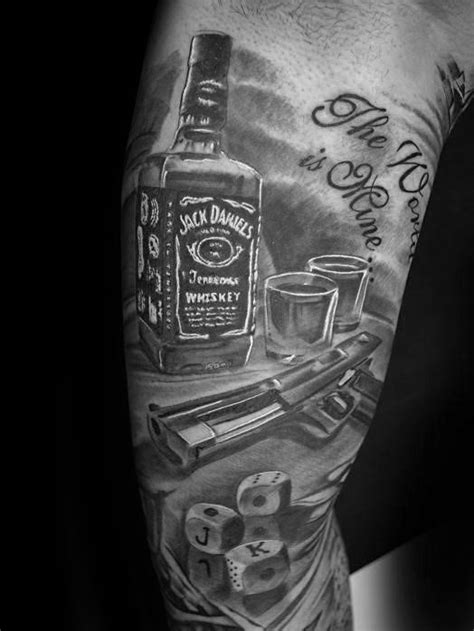 jack daniels tattoo designs  men whiskey ink ideas