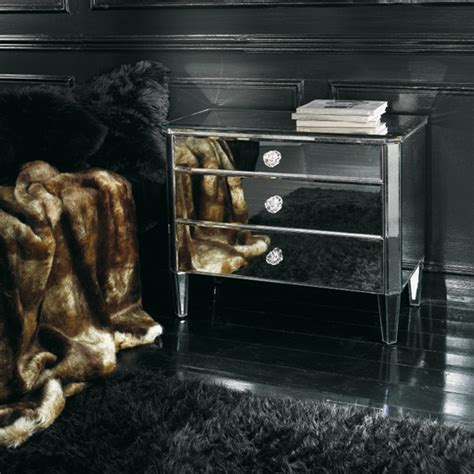 le de chevet luxe transparents et miroirs meubles sur mesure hifigeny