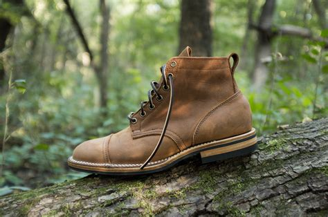 Viberg Service Boot In Aged Bark In Brown For Men