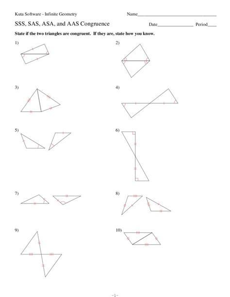 sas sss aas worksheet triangle sss sas aas images