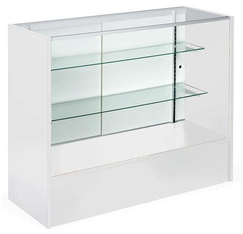 Showcases With Glass Shelves White Melamine Cabinet