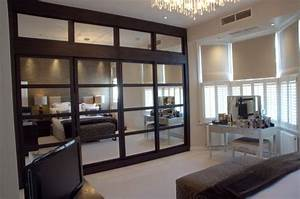 Sliding door mirror panelled wenge fitted wardrobes
