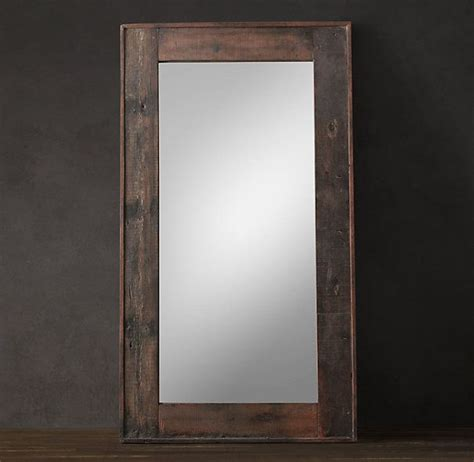 floor mirror restoration hardware salvaged boat wood mirrors large diy pinterest