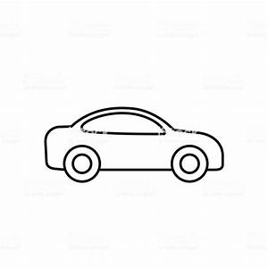 Car Outline Icon Vector Line Transportation Simple Symbol Stock Illustration