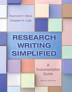 Read Research Writing Simplified  A Documentation Guide