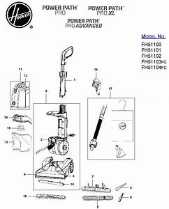 Hoover Fh51100 Power Path Pro Carpet Cleaner Parts List  U0026 Schematic