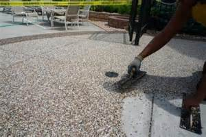 Epoxy Pebble Flooring Los Angeles by Refinishing Concrete Patio Home Design Ideas And Pictures