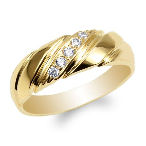 womens yellow gold plated cz luxury wedding band ring size 4 10 ebay