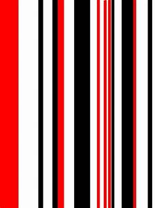 Stripes; Red, Black & White Photo by billybill171 ...