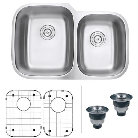 60 40 stainless steel sink ruvati 32 in 60 40 undermount 16 gauge stainless steel