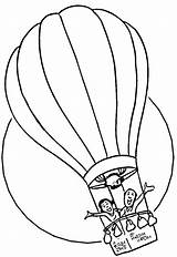 Coloring Pages Balloon Air Printable sketch template