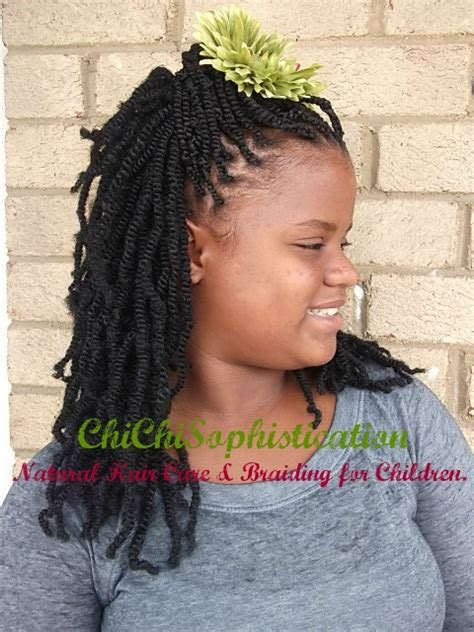 protective style nubian twist hairstyle  teens