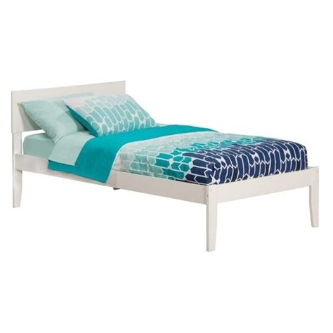atlantic furniture orlando bed with open foot rail in