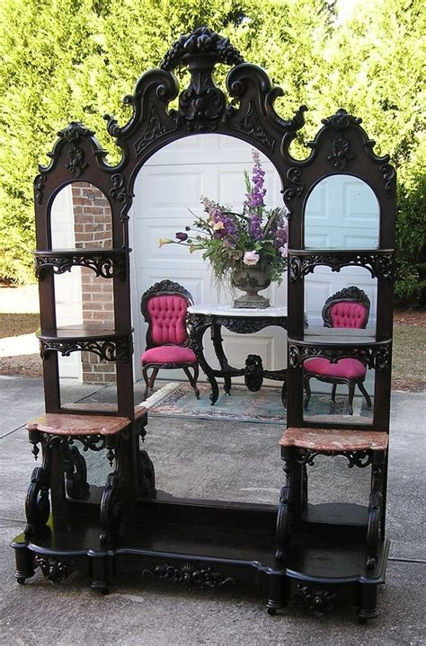Antique Etagere by Fantastic Rococo Rosewood J H Belter Etagere Ebay