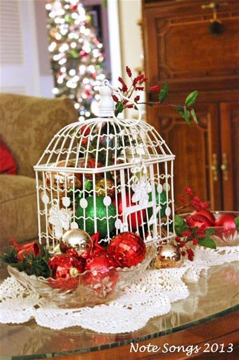 christmas bird cage christmas decor pinterest