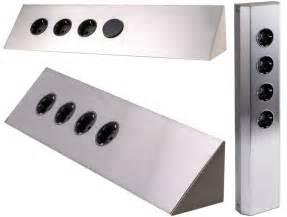 design steckdosenleiste design edelstahl steckdose mehrfachsteckdose verteiler leiste steckdosenleiste ebay