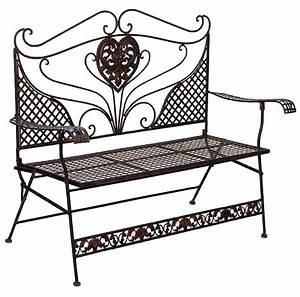 Banc En Fer : banc de jardin style anglais victorien en fer forg brun ~ Preciouscoupons.com Idées de Décoration