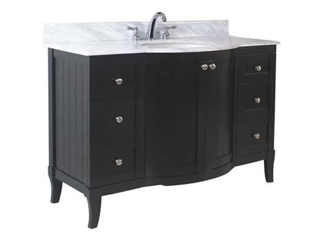 single sink modern bathroom vanity dark