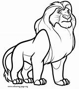 Coloring Lion Sheet Popular sketch template