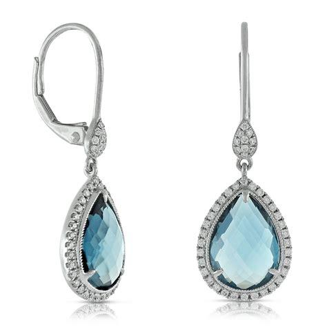 london blue topaz diamond earrings  ben bridge jeweler