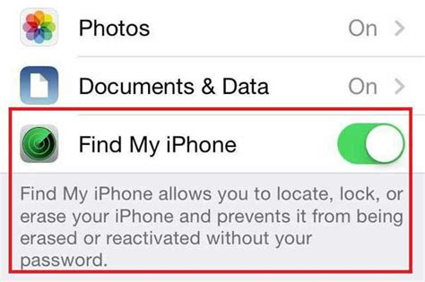 find my iphone in settings how to use find my iphone