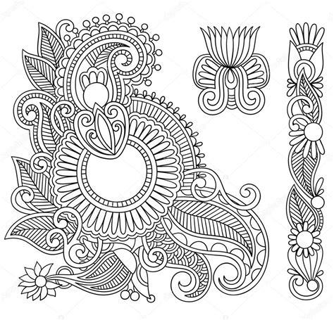 black flowers illustration design element stock vector