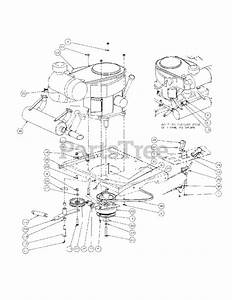 Cub Cadet Parts On The Engine Assembly Diagram For M54