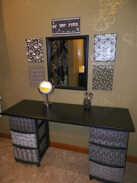 diy vanity table plans diy makeup vanity brilliant setup for your room