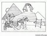 Coloring Egyptian Pyramids Colorkid sketch template