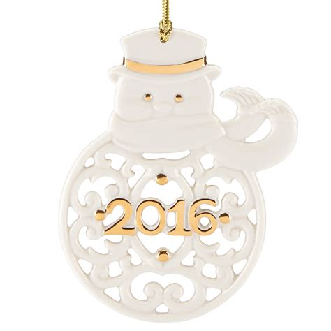 a year to remember snowman ornament 2016 lenox christmas