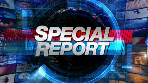 Special Report  Broadcast News Graphics Title Animation