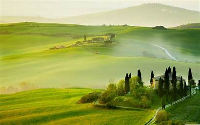 Landscape Spring Tuscany Italy Wallpapers Desktop Dual