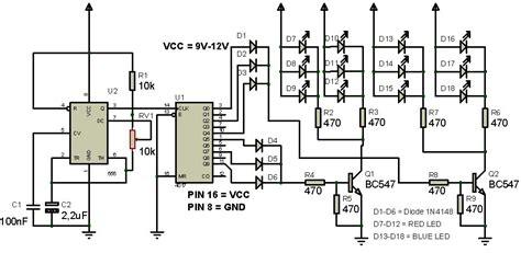 rangkaian strobo led menggunakan ic 4017 syarif projects