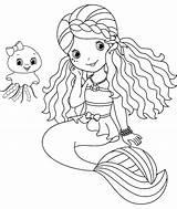 Merman Coloring Pages Mermaid Printable Getcolorings sketch template