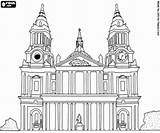Cathedral Coloring 93kb 250px Saint Paul London sketch template
