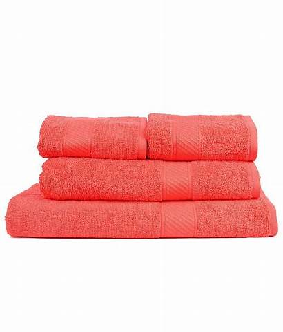 Trident Couple Orange Pcs Towels Bath Towel